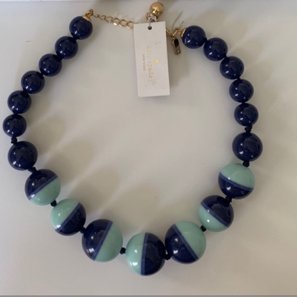 kate spade Jewelry - Kate Spade Blue Bowery Ball Necklace